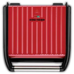 George Foreman 25050-56, Schwarz, Rot, Rechteckig, 330 x 220 mm, Edelstahl, 1850 W, 392 mm