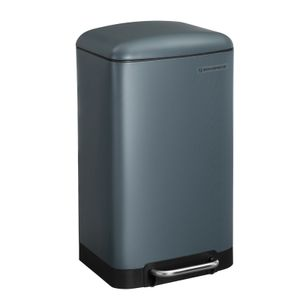 SONGMICS Mülleimer, 30 Liter Abfalleimer, Treteimer aus Stahl, mit Inneneimer und Deckel, Softclose, luftdicht rauchgrau LTB01GS