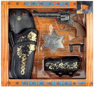 Schrödel Western Set Sheriff-Junior (Pistole + Gürtel & Holster + Sheriffstern)