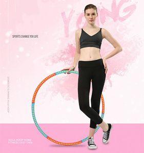Fitness Hula Hoop Series  mit Schaumstoff  96CM Freie Gewichtszunahme (2-6 kg) Blau+Rot
