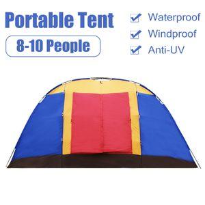 Tunnelzelt 8 Personen Zelt Familienzelt Campingzelt Wasserdicht Kuppelzelt