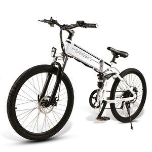 "SAMEBIKE 26"" 500w Fahrrad-Elektrofahrrad 21-fach Faltbar E-Bike  48V 10AH E-Bike Elektro-MTB-Fahrradmotor L0216 Weiß"