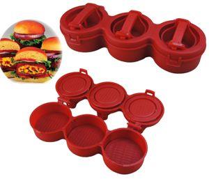 3 in 1 Burgerpresse für gefüllte Burger | Hamburgerpresse | Hamburgerformer |  Burger Patty Former | Hamburger Zubereitung - selber machen | BBQ Fleischpresse mit Griff | KitchenAid - Burgerpressen