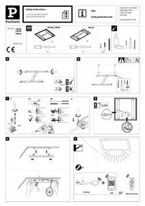 Paulmann WallCeiling Amaris ZB LEDPanel RGBW 1200x300mm 39W Weiß matt 230V Metall