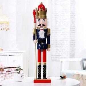 Weihnachten Nutcracker 60cm Holz Nussknacker Weihnachtsdeko König Figur Deko