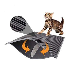 Katzenstreumatte  Zweilagige wasserdichte urinfeste Fangmatte Abnehmbares doppelschichtiges EVA-Katzenstreukissen für Haustiere
