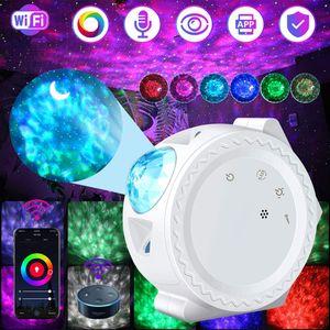 Wifi Connect  Musik Lautsprecher LED Projektor Sternenhimmel Lampe Wasserwellen-Welleneffekt Neues Design