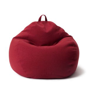 Lumaland Comfort Line XL Sitzsack - 90x110x50 cm Bodenkissen, Bean Bag Chair - 250 L - EPS Perlen Füllung - Rot