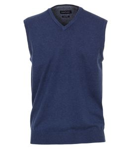 Casa Moda - Herren Pullunder mit V-Ausschnitt in verschiedenen Farbvarianten, S-6XL (004460), Größe:5XL, Farbe:Blau (135)