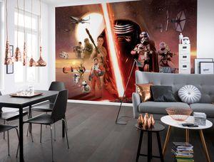 "Komar Fototapete ""STAR WARS EP7 Collage"", bunt , Sternenkrieger, Universum, 368 x 254 cm"