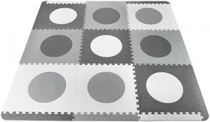 XXL Krabbelmatte Puzzelmatte mit Rand Spielmatte für Babys und Kleinkinder 190 x 190 x 1 cm + Wasserdicht - Grau