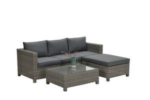 Garden Impressions Lounge Set Rudesheim 3-teilig organic grey