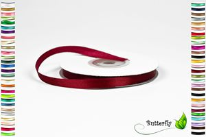25m Rolle Satinband 6mm , Farbauswahl:weinrot / bordeaux 270