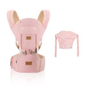 Ergonomische Babytrage für Säuglinge bis 20Kg Pink Kindertrage Rückentrage Trage für alle Jahreszeite Bauchtrage für Wanderung, Shopping 100% Baumwolle