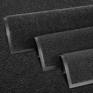Entrando Fußmatte 90x150 cm in Schwarz Anthrazit - Rutschfeste Schmutzfangmatte für innen und außen - ideal für Haustür, Flur, Balkon, Terrasse - Carpet Fußabtreter Türmatte Schuhabstreifer Fußabstreifer Fußmatten Schmutzmatte Schuhmatte Türvorleger Doormat Fussabstreifer Teppich für draußen Fussmatten für den Aussenbereich Fussmatten