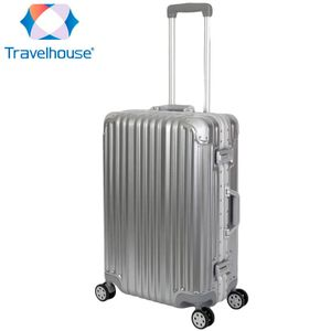 Travelhouse London Hartschalen Polycarbonat Alu Koffer Trolley Reise Urlaub 67l Silber