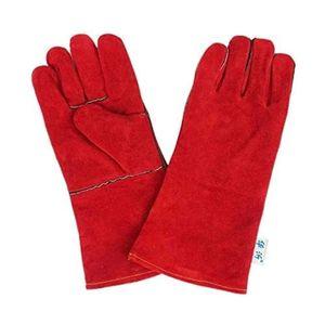 Mllaid Verschleißfeste Voll-Leder-Isolationshandschuhe Hochtemperatur-Schweißer Schweißerhandschuhe Leder Arbeitsschutz Größe: 34 16cm Dicke