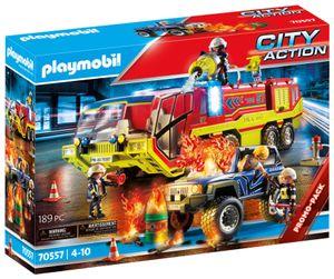 PLAYMOBIL 70557 Feuerwehreinsatz mit Löschfahrzeug