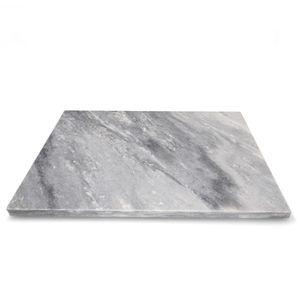 Marmor-Schneidebrett 40 x 30 cm weiß-grau Tisch-Untersetzer Servierplatte Unterlage
