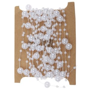 5m Perlenband Perlenkette Perlengirlande Perlenschnur Weihnachten Advent Hochzeit Deko Tischdeko