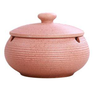 Keramik-Aschenbecher mit winddichtem Deckel für den Innen- und Außenbereich Pink 11x8cm Keramik Aschenbecher mit Deckel
