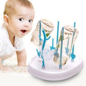 Baby Flaschenablaufregal, Milchflaschenregal, Milchflaschenablaufregal, blau und weiß