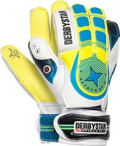 DERBYSTAR Attack XP 12 Torwarthandschuhe weiß gelb blau 5