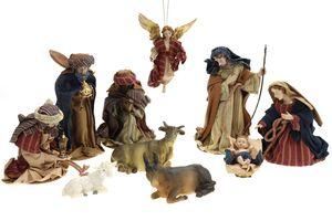 Krippenfiguren mit Kleidern ca. H.: 17 cm, 10-teilig (0940260)