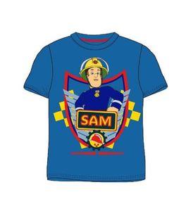 Feuerwehrmann Sam Jungen Kinder T-Shirt Blau, Größe:128