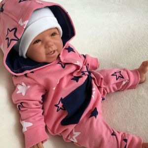 Baby Mädchen Strampler Overall Jumpsuit Sterne Gr. 24-36 Monate (92/98) Koralle