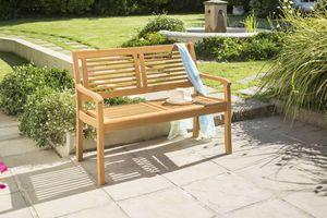 CASAYA Gartenbank Paolo 2-Sitzer Teakoptik, Eukalyptus Hartholz Holzbank
