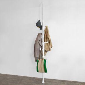 SoBuy® Garderobe, Kleiderständer, Garderobenständer,Höhe Verstellbar,FRG159-W