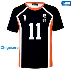 Haikyuu Herren T-Shirt Farbe; Schwarz, Größe: M, Nummer; 11
