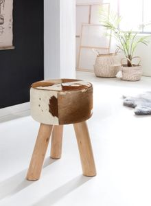 Design Sitzhocker WL5.101 Holz 35x50x35 cm Modern Fußhocker