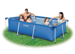 Intex Family Pool 260 x 160 x 65 cm  Stahlrahmen Frame Schwimmbecken  28271NP