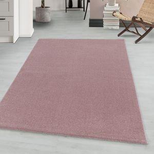 Teppium Kurzflor modern Teppich, Wohnzimmerteppich, Unifarben, Rechteckig ROSA, Farbe:ROSA,120 cm x 170 cm