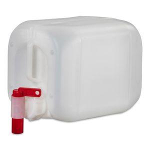 5 Liter Kanister Wasserkanister Campingkanister Farbe natur DIN51 + Hahn (1x5knn51 + H.51)
