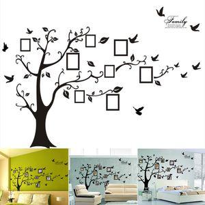 3D PVC Wandaufkleber Fotorahmen Stammbaum Wandtattoo Einfach zu installieren Bewerben DIY Fotogalerie Rahmen Dekor Aufkleber Home Art Decor
