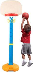 COSTWAY Basketballstaender Kinder, Basketballkorb mit Staender, Basketballanlage h?henverstellbarer von 120 bis 160 cm, Korbanlage mit Griff, geeignet für Innen- und Au?enbereiche