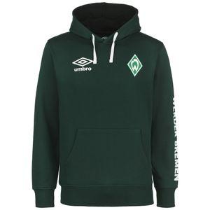 Umbro SV Werder Bremen Icon OH Kapuzenpullover Herren Erwachsene dunkelgrün / weiß L