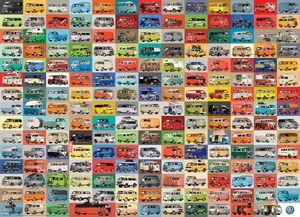 Volkswagen Busse, Bullis und Transporter 1000 Teile Puzzle Format 68x48 cm