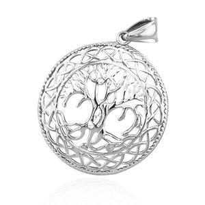 Anhänger Lebensbaum Edelstahl Halskette Lederkette Herren Damen Yggdrasil Keltisch Celtic nur-anhänger