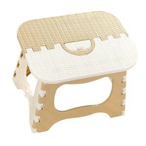Tragbarer faltender Tritthocker-Badezimmer-leichter Fußschemel für Kinder Farbe Beige