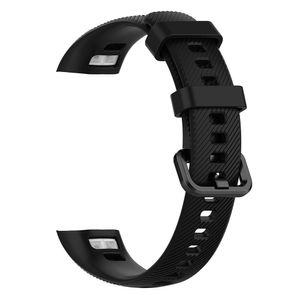 Silikon armband für huawei honor band 4 / band 5 smart watch ersatz armband strap【Schwarz】