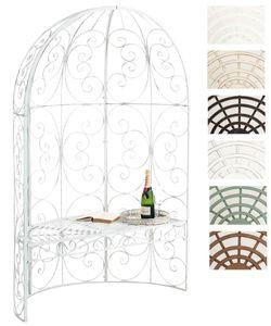 CLP Halbpavillon Rosie mit Sitzbank, Farbe:antik weiß