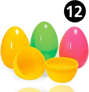 12x Ostereier Plastikeier Kunststoffeier Überraschungseier zum Öffnen & Befüllen an Ostern