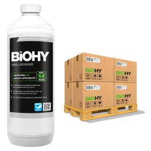 BiOHY Grillreiniger (480x1l Flasche) | Reiniger für Holzkohle-, Gas- und Elektrogrill | Aktivschaum gegen angebranntes Fett und Öl | Materialschonend, effektiv und nachhaltig