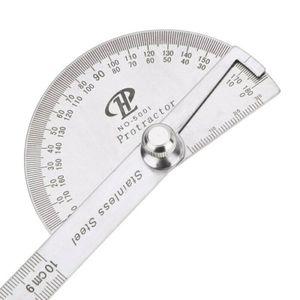 Winkellineal Winkelmesser Edelstahl Messwerkzeug Gradmesser Lineal Schmiege 180°