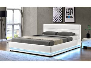 "Bett  LED ""Anastasia""-160 x 200 cm - weiß"