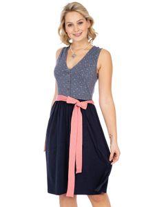 Kleid Jersey Stretch SABRINA blau Hangowear Kleid Jersey Stretch SABRINA blau, XXL